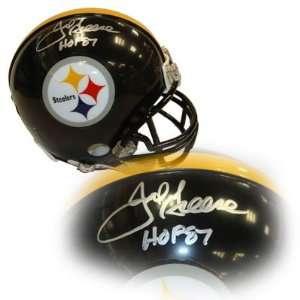 Joe Greene Autographed Mini Helmet   Autographed NFL Mini Helmets