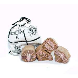 Wood Block Stamps   Little Critters   Fair Trade: Home & Kitchen