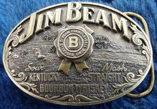 Jim Beam Kentucky Bourbon Whiskey Alcohol Belt Buckle