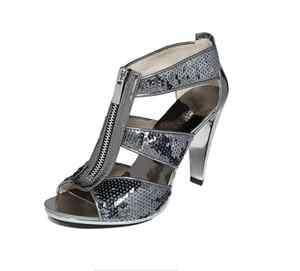 AUTHENTIC MICHAEL KORS Berkley T Strap Sandals With Zipper Sandal