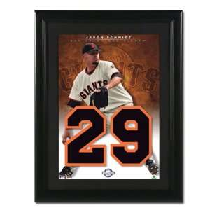 Jason Schmidt San Francisco Giants Unsigned Jersey Numbers