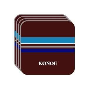 Personal Name Gif   KONOE Se of 4 Mini Mousepad Coasers (blue