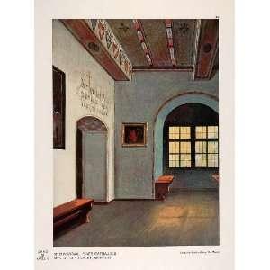 1931 Art Deco Design Rathaus Meeting Room Hall Print
