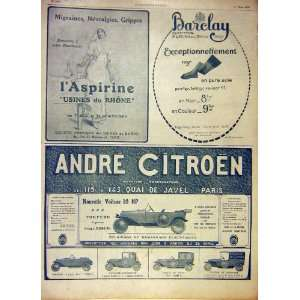 Advert French Print 1919 Citroen Motor Car Barclay Home & Kitchen