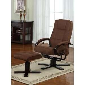 2PC Modern Style Vibrating Shiatsu Massage Motor Recliner Chair With