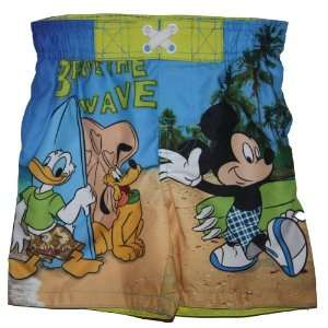 Disney Mickey Mouse Donald Duck Goofy Swim Trunks Bathing Suit Shorts