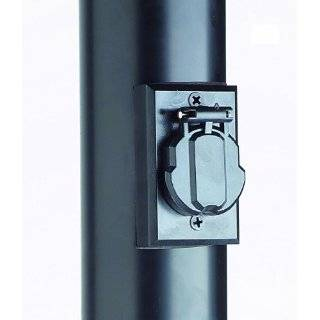 house 501932 black lamp post with cross arm and electrical outlet. Black Bedroom Furniture Sets. Home Design Ideas