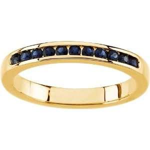 karat yellow gold Sapphire Anniversary Band Diamond Designs Jewelry