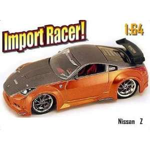 Import Racer Copper & Grey Metallic Nissan Z 164 Scale Die Cast Car