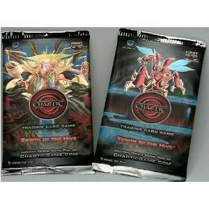 Chaotic Trading Card Game   Zenith of the Hive   2 PACK LOT (9 Cards