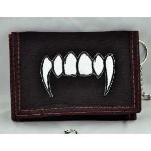 Fang Wallet Trifold Goth Blood Horror Death Rock