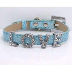Small Blue Snake Skin Swarovski Grade Crystal Collar for Cat/dog with