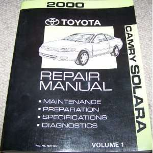 2000 toyota camry owners manual toyota amazoncom books. Black Bedroom Furniture Sets. Home Design Ideas