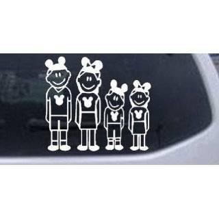 Family Stick Family Car Window Wall Laptop Decal Sticker    White