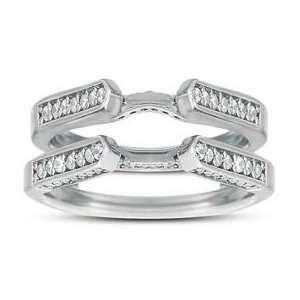 Carat Diamond 14 Karat Gold Wedding Ring Guard Enhancer Jewelry