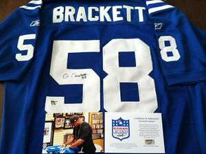 Gary Brackett Autographed Signed Colts Jersey COA