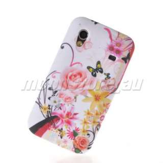FLOWER SOFT SILICONE GEL TPU CASE COVER FOR SAMSUNG S5830 GALAXY ACE