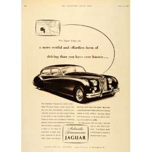 1956 Ad Jaguar Mark VII Saloon Automatic Transmission   Original Print