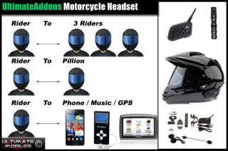 Intercom Bluetooth Motorcycle for Phone Satnav + Remote Control