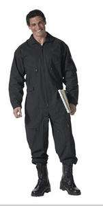AIR FORCE STYLE BLACK FLIGHTSUIT / COVERALL 7502