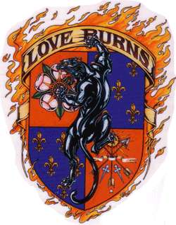 TATTOO STYLE LOVE BURNS PANTHER STICKER DECAL 102