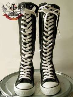 134 shoe lace KNEE HIGH TOP CHUCK CONVERSE BOOTS WHITE