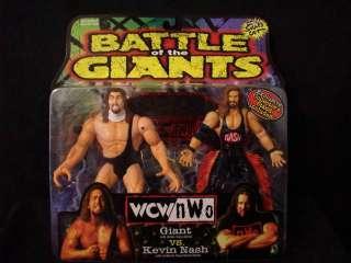 TOY BIZ WCW NWO WRESTLERS GIANT & KEVIN NASH MIB #A3333
