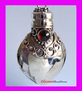 Cabochon January birthstone Garnet sterling Silver Prayer Heart box
