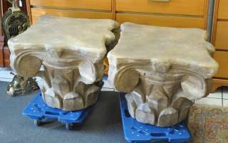 Pair of Cast Concrete Garden Pedestals or Tables |