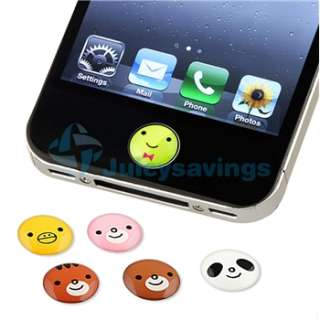 Bling Luxury Light Pink Case+Cute Animal Home Button Sticker For