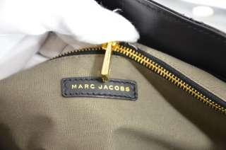 MARC JACOBS SINGLE BLACK QUILTED PATENT LEATHER SHOULDER BAG $895
