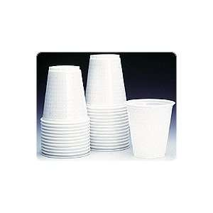 Plastic Drinking Cups, White, 5 Oz., 1,000/box Industrial