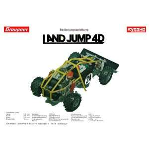 Kyosho (German) LANDJUMP 1/8 gas car instruction manual Kyosho Books