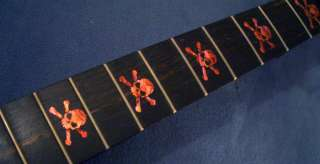 Skull (AR) Fret Markers Inlay Sticker Decal Guitar Bass