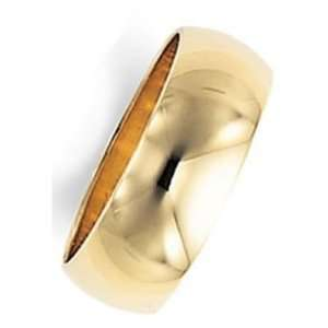 7.0 Millimeters Yellow Gold Heavy Wedding Band Ring 14Kt Gold