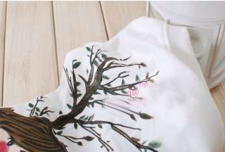 Women Ladies Romantic Trees Cotton T shirt Tee S M 64RK