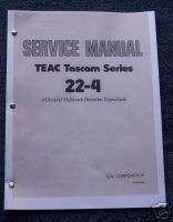 Tascam 22 4 Reel to Reel Service Manual CD Adobe Format