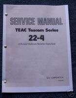 Tascam 22 4 Reel to Reel Service Manual CD Adobe Format |