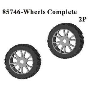 Redcat Racing Hurricane Wheels & Tires Complete 1 Pair Part # 85746