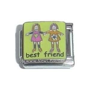 Best Friend Italian Charm Bracelet Jewelry Link Jewelry