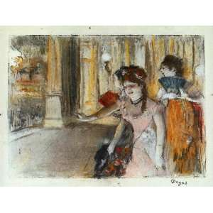 Oil Painting Singers on Stage Edgar Degas Hand Painted