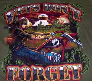 OD POW VETS DONT FORGET Mens Long Sleeve T shirt 2X