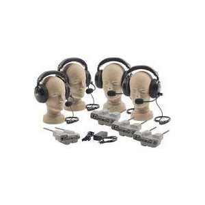 Anchor Audio Wireless Intercom System with 3 Dual Muff