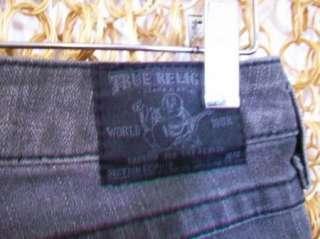 RELIGION Womens Charcoal Gray SOPHIE Cute Shorts Jeans Capris sz 25