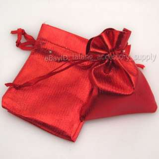 50x 120171 New Charm Red Fabric Wedding Gift Bag Favor ON SALE