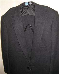 Black Wool 1 Button Evening Jacket Vtg Marx & Haas M 40