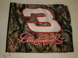 Realtree Camo Dale Earnhardt #3 Nascar Car Flag   NIB