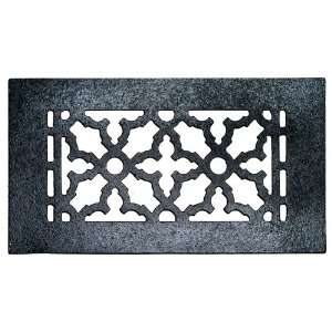 Black 10 x 5 1/2 Cast Iron Decorative Grille with Screw Holes Home