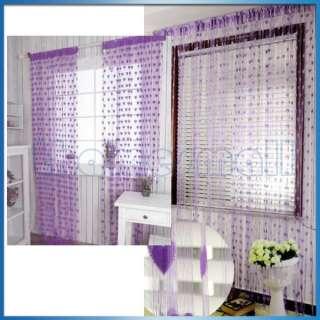Heart Pattern Tassel String Door Curtain Door Hanging Romantic Purple
