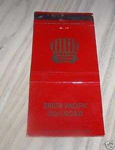 VINTAGE UNION PACIFIC RAILROAD MATCH BOOK COVER